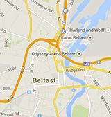 Choose location map of Belfast